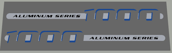 Trek 1000 Aluminum Series mid 2000's Top Tube Decals - 1 Pair (Left and Right) - Choice Colors