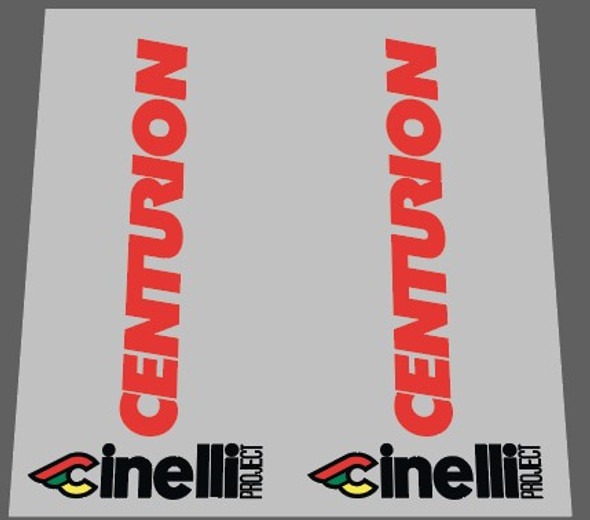 Centurion Cinelli Project Bicycle Head Badge Decal - 1 Pair - Choose color