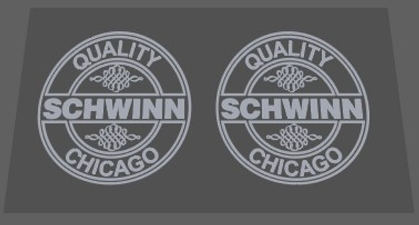 Schwinn 1983 Quality Chicago Seat Tube Decal Small - 1 Pair - Choice of Color