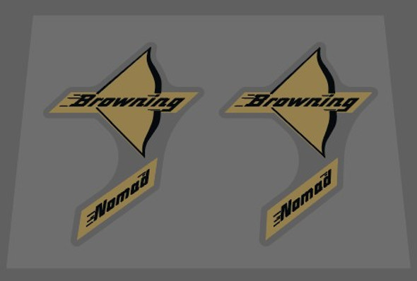 Browning Nomad Bow Decals - 1 Pair