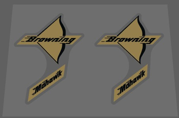 Browning Mohawk Bow Decals - 1 Pair
