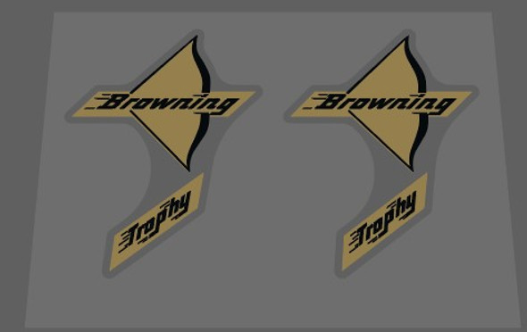 Browning Trophy Bow Decals - 1 Pair