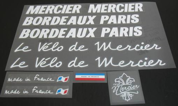 Mercier Bordeaux Paris Bicycle Decal Set