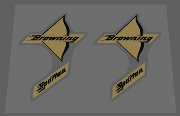 Browning Spartan Bow Decals - 1 Pair