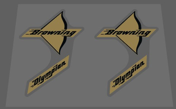 Browning Olympian Bow Decals - 1 Pair