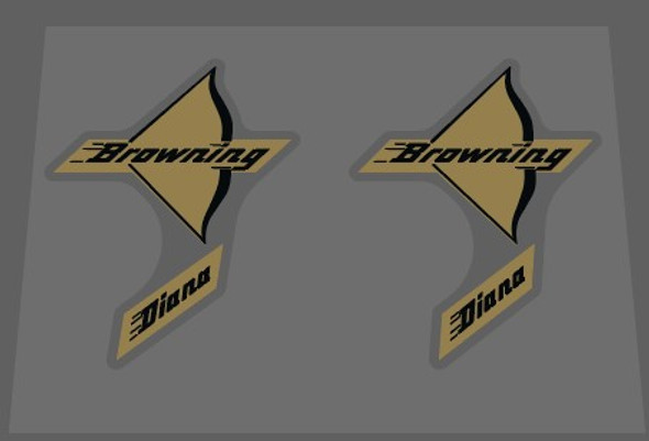 Browning Diana Bow Decals - 1 Pair