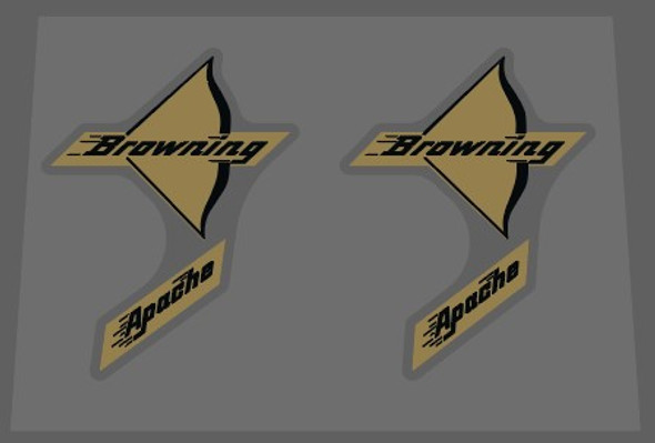 Browning Apache Bow Decals - 1 Pair