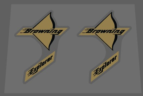 Browning Explorer Bow Decals - 1 Pair