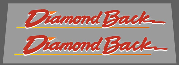 Diamond Back with Underline Down Tube Decals - 1 Pair - Choose Colors
