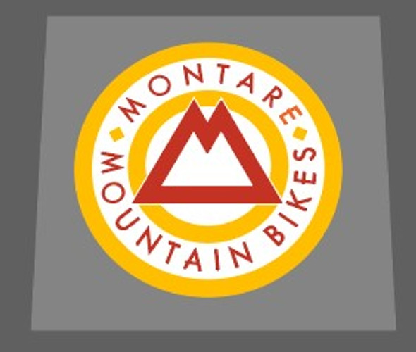 Gary Fisher Montare Mountain Bikes Head Badge Decal -1 Piece- Choose colors