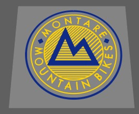 Gary Fisher Montare Mountain Bikes Early 1984 Head Badge Decal -1 Piece- Choose colors