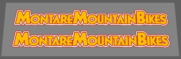 Gary Fisher 1984 Montare Mountain Bicycle Down Tube Decals - 3 colors - 1 Pair - Choice of colors