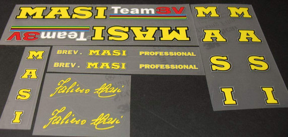 Masi Team 3V Bicycle Decal Set