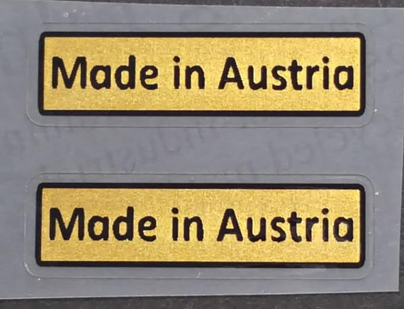 Made in Austria Decal - 1 Pair (sku Aust101)