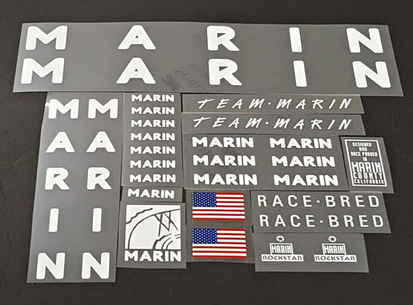 Marin Team Marin Bicycle Decal Set