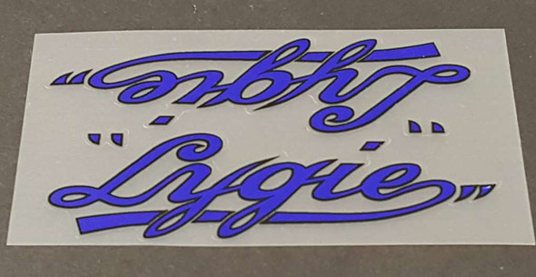 Lygie Down Tube Decals - Choose Colors