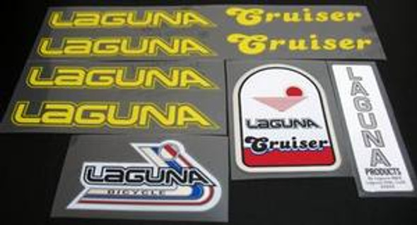 Laguna Cruiser 1982 Decal Set