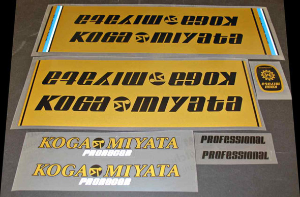 Koga-Miyata Bicycle Decal Set