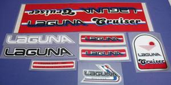 Laguna Cruiser Decal Set with Chrome - Red