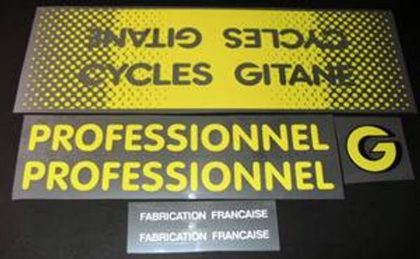 Gitane Professionnel Bicycle Decal Set