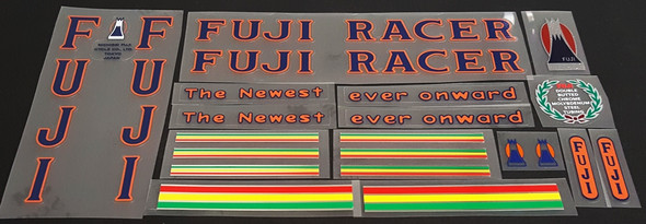 Fuji 1972 Newest Racer Bicycle Decal Set