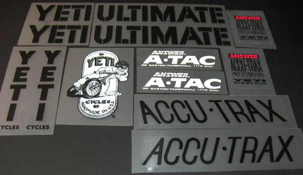 YETI Ultimate Bicycle Decal Set
