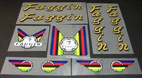 Faggin Bicycle Decal Set