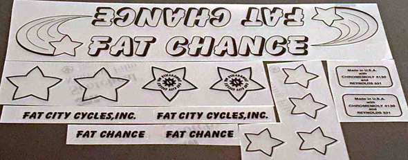 Fat Chance Somerville Bicycle Decal Set - Black