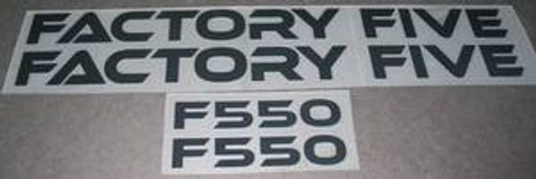 Factory Five F550 Decal Set (sku 996)