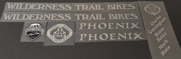 WTB Wilderness Trail Bikes 1994 Phoenix Bicycle Decal Set