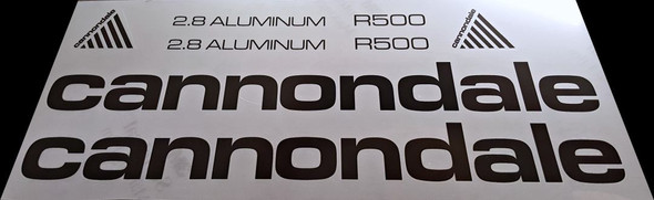 Cannondale R500 Bicycle Decal Set