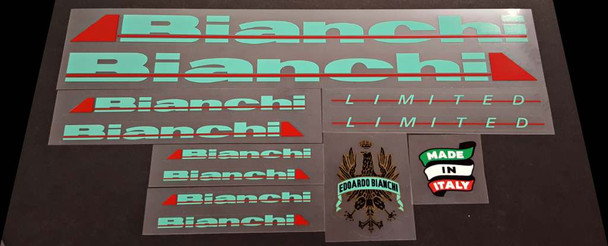 Bianchi Limited Bicycle Decal Set