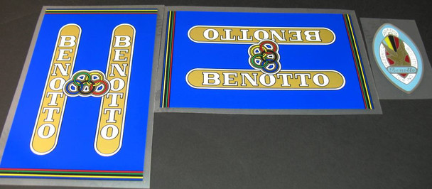 Benotto 1960s Decal Set-Blue Background