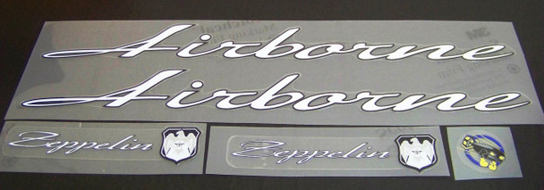 Airborne Zeppelin Bicycle Decal Set