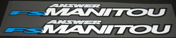 Answer Manitou FS Down Tube Decals