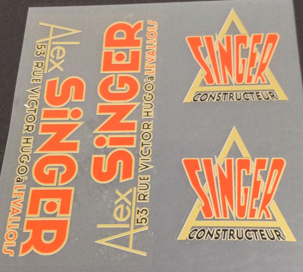 Alex Singer Decal Set