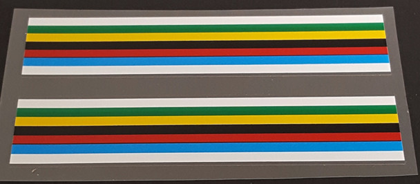 Olympic Stripes with White Borders (Holdsworth)
