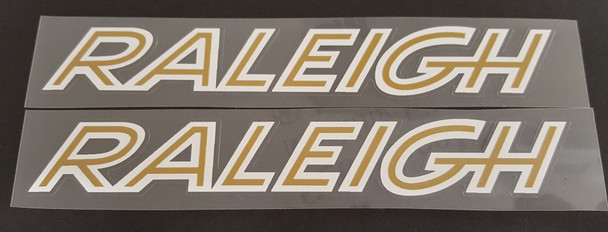 Raleigh Bicycle 1970s Down Tube Decals - 1 Pair - Choose Colors
