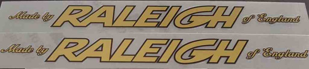 Raleigh Late 1970s Down Tube Decals - 1 Pair - Choose Colors