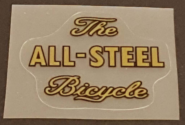 Raleigh All-Steel Down Tube Decal