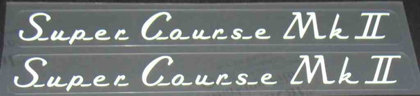 Super Course MK II Top Tube Decals (1970s) - 1 Pair