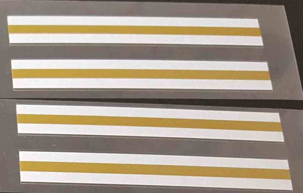 Gold/White Stripes - Bold - Set of 4
