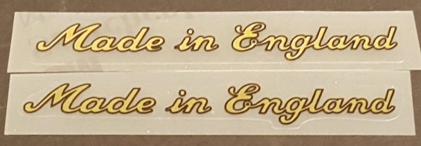 Made in England Decals - Large Gold/Black - 1 Pair