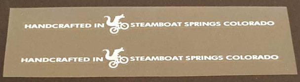 Moots Chain Stay Decals - 1 Pair - Choose Color