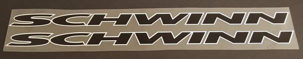Schwinn Down Tube Decals  Extended w/Outline - 1 Pair - Choose Colors