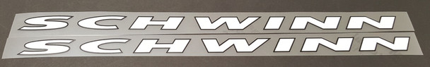 Schwinn Down Tube Decals Stretched (for Project Underground)   - 1 Pair - Choose Colors