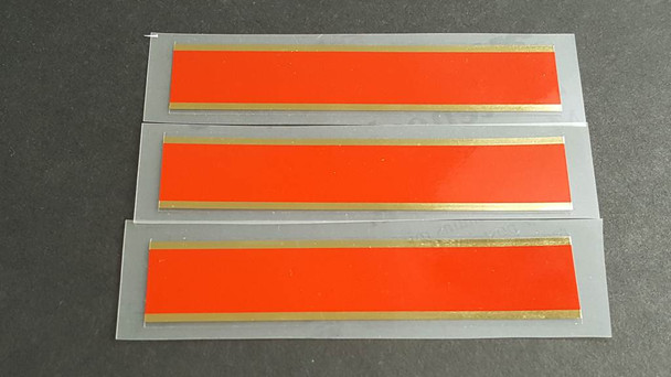 Schwinn Wide Bands Red with Mirror Gold Border - Set of 3
