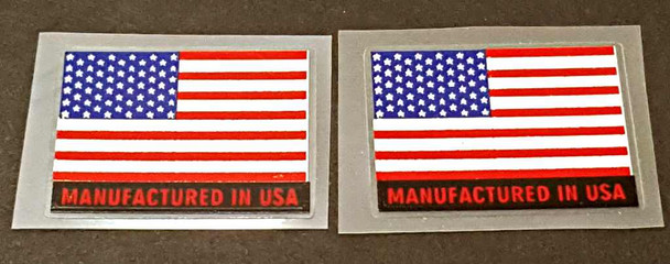 Manufactured in USA Flag  Bicycle Decals - 1 Pair
