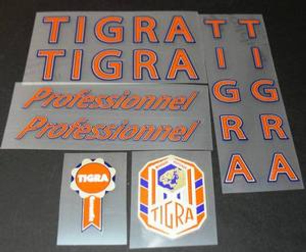 Tigra Professional Vintage Bicycle Decal Set
