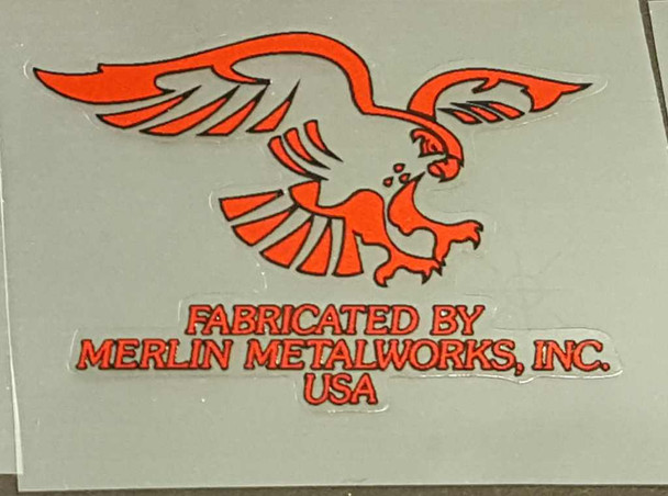 Merlin Head Badge Decal - Choice of Color